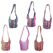 Assorted Colors Hippie Bucket Cross Bag