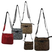 Womans Cross Body Circle Print Bag