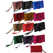 Womans 3D Flower Wristlet
