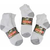 White Socks-Cotton Ankle Socks Size 9-11 Wholesale Bulk
