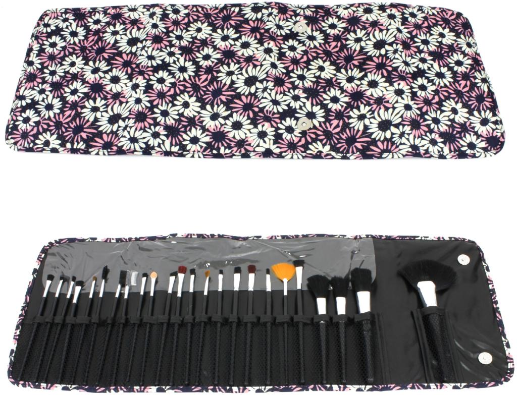 COSMETIC Brush Set - Daisy Print Case 24 Piece Set [1935513]