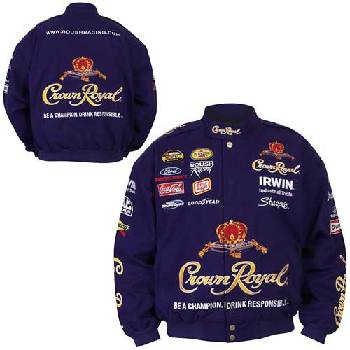 Wholesale Jamie Mcmurray Crown Royal Twill Nascar Jacket