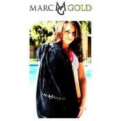 Marc Gold Luxury Black Velour Beach Towel