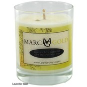 Marc Gold Spa Lavender Basil Soy Candle 7.5 ounce