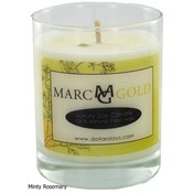 Marc Gold Minty Rosemary Soy Candle 7.5 ounce