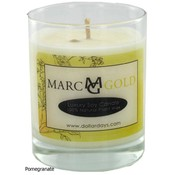 Marc Gold Pomegranate Soy Candle 7.5 Ounce