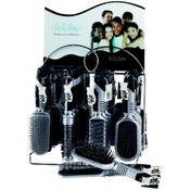 Icicles Hairbrush On Display Rack (6 Displays)