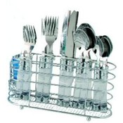 20 Piece Cutlery Set With Chrome Holder-Clear