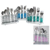 20 Piece Cutlery Set In Chrome Holder