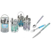 20 Piece Cutlery Set With Round Chrome Caddy