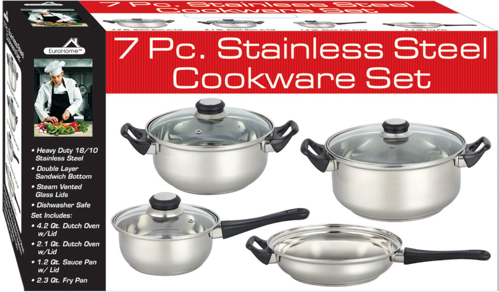 7 Piece COOKWARE Set With Glass Lids (331605)