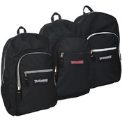 Trailmaker 19 Inch Deluxe Backpacks - B;lack with colored zippers