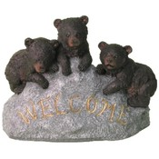 "Three Bear Cubs ""Welcome"" Rock"