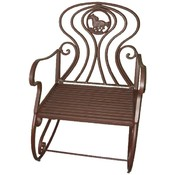 Metal Rocking Chair with Horse Design
