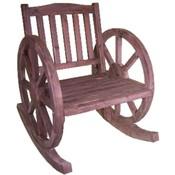 Wood Rocker Wagon Wheels