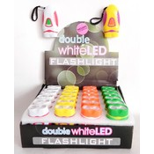 LED Mini Flashlight Double White Light