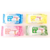Baby Wipes 80 count w/Aloe Vera & Vitamin E Wholesale Bulk