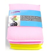 4 Piece Scouring Sponges Wholesale Bulk