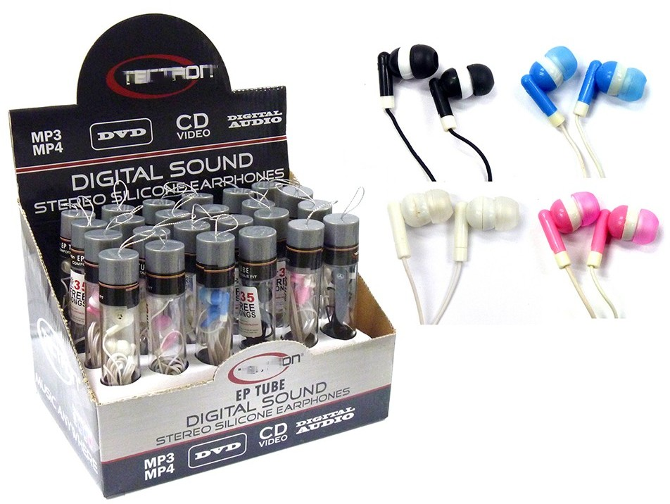 Stereo Digital Sound Silicone Earphone [1851667]