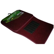 4 Pc Burgundy Auto Car Floor Mats Set