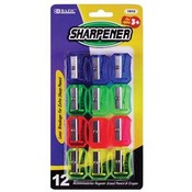 12 Pc Clear Square Pencil Sharpener Wholesale Bulk