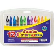 12 Color Premium Quality Jumbo Crayon Wholesale Bulk