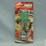 Plastic Handle Fork Set