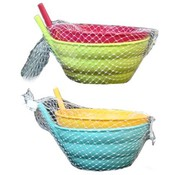 2Pc Sipper Bowl Set With Straw