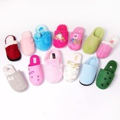 Womens Fleece Slippers Assorted