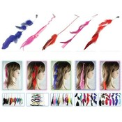 Feather Hair Extentions 144 Pc Asst