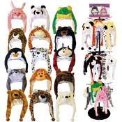 Animal Head Hats 9 Assorted Styles Wholesale Bulk