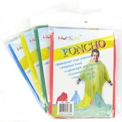 52 X 80  Rain Poncho Adult Size Assorted Colors