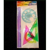 4 Pack Ruler Set Wholesale Bulk