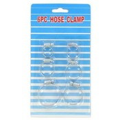 6 Pc Hose Clamps