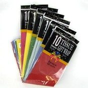 10 Sheet Tissue 6 Color Assorted