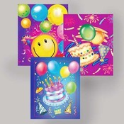 Birthday Gift Bags. Assorted Jumbo