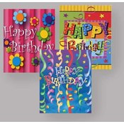 Birthday Gift Bags. Assorted- Jumbo Wholesale Bulk