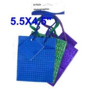 3Pk Hologram Gift Bag Small