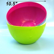 Plastic Salad Bowl Asst Colors
