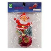 X-Mas Ornament, Santa Red 3Pc