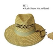 Rush Straw Hat W Band