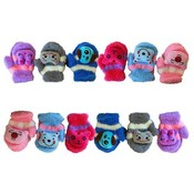 Kids Boucle Mitten W/Cartoon Patch Wholesale Bulk