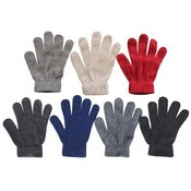 8 Ladies Chenille Glove 8 Colors 7 Assorted Color