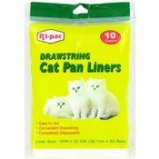 10 Ct Cat Litter Box Liner Bags 15X32
