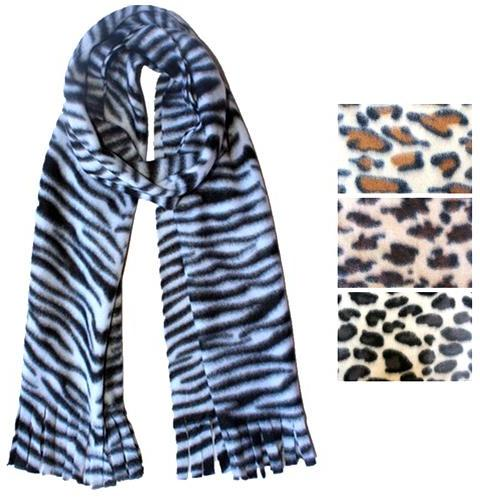 wholesale animal print fleece scarves sku 2123221 dollardays