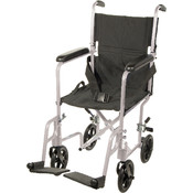 Lightweight Silver Transport Wheelchair Wholesale Bulk