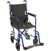 Lightweight Blue Transport Wheelchair Wholesale Bulk