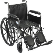 Chrome Sport Wheelchair with Detachable Full Arms and Elevating Leg Rest Wholesale Bulk