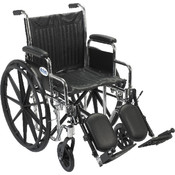 Chrome Sport Wheelchair with Detachable Desk Arms and Elevating Leg Rest Wholesale Bulk