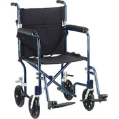 Flyweight Lightweight Blue Transport Wheelchair Wholesale Bulk